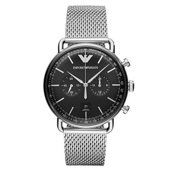 Emporio Armani Men's Chronograph Black Bracelet Watch - Product number 4114442