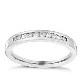 18ct White Gold 0.15ct Diamond Eternity Ring - Product number 4114663