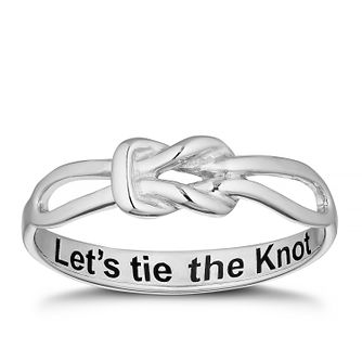 Sterling Silver 'Let's Tie The Knot' Proposal Ring - Size L - Product number 4114841