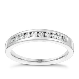 18ct White Gold 1/4ct Diamond Eternity Ring - Product number 4114876