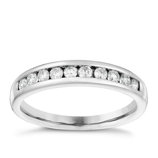 18ct White Gold 1/3ct Diamond Eternity Ring - Product number 4115007
