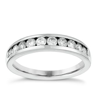18ct White Gold 1/2ct Diamond Eternity Ring - Product number 4115163