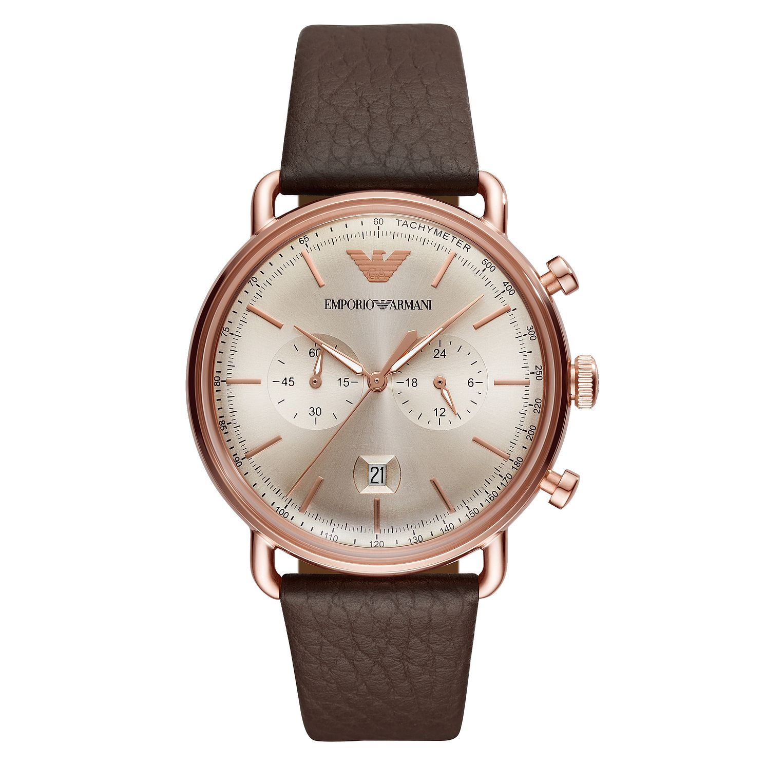 Emporio Armani Men's Rose Gold Tone Chronograph Watch - Product number 4115252