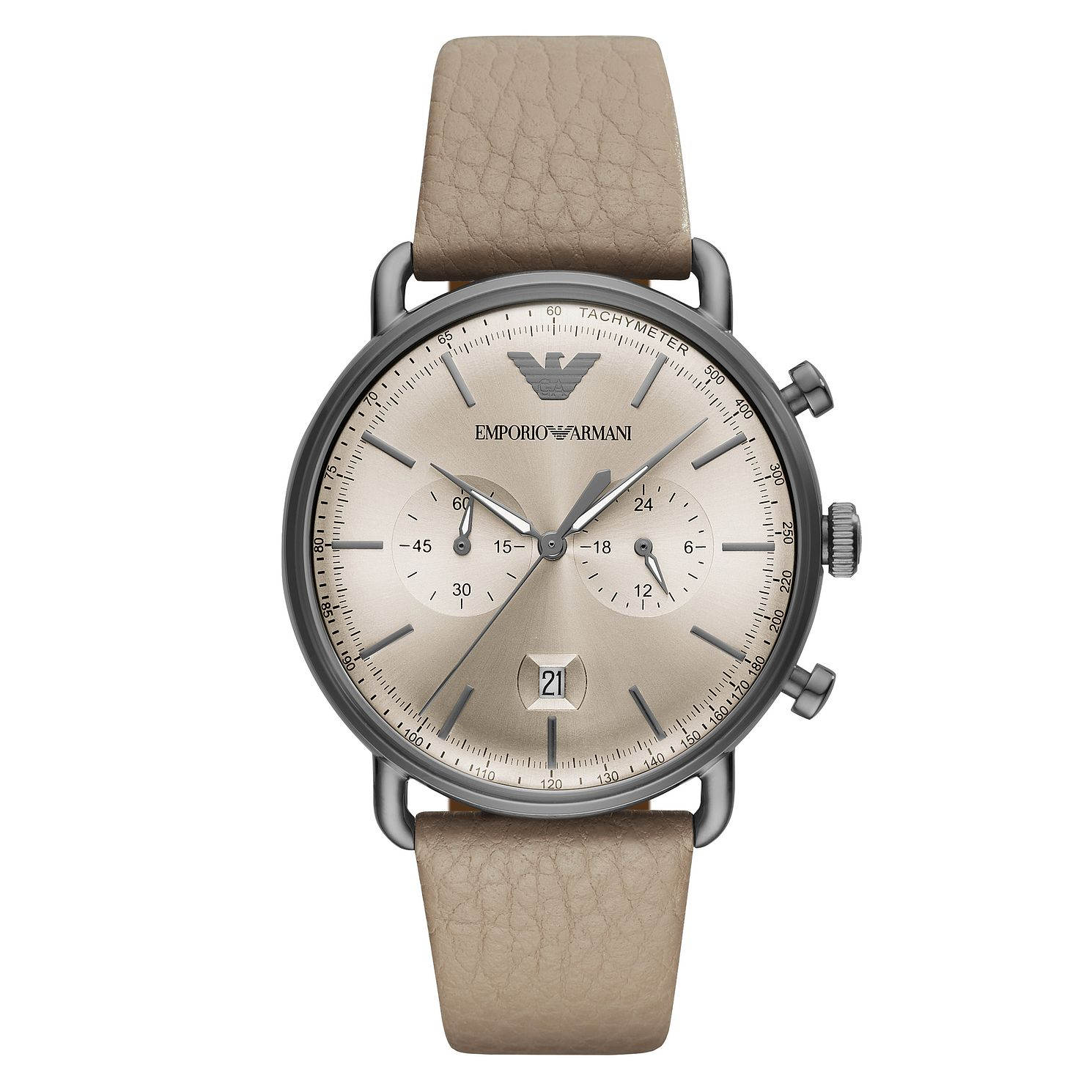Emporio Armani Men's Ion Plated Brown Strap Watch - Product number 4115368