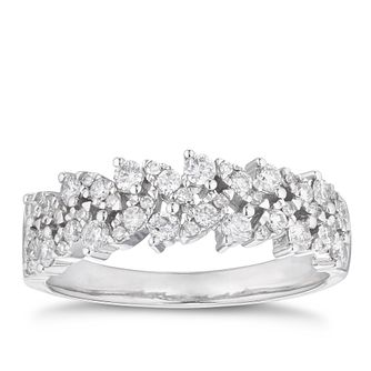 18ct White Gold 1/2ct Diamond Fancy Eternity Ring - Product number 4115635