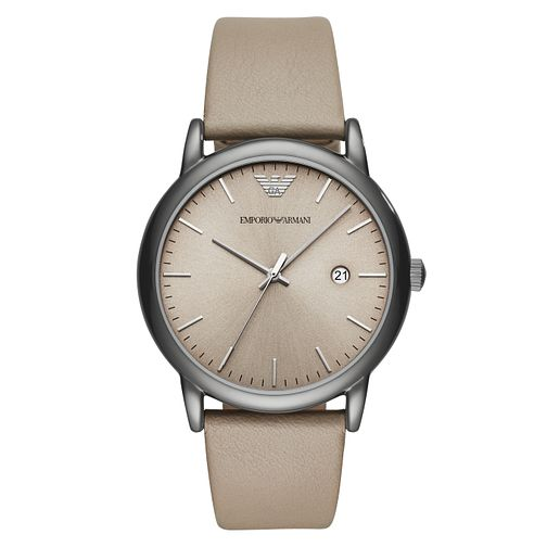 Emporio Armani Men's Ion Plated Brown Strap Watch - Product number 4115805