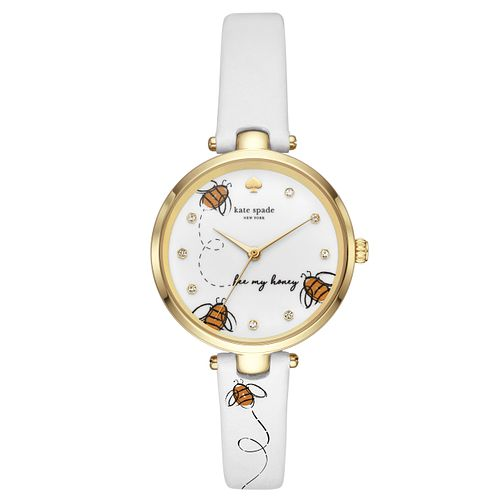 Kate Spade Holland Bee Ladies' Yellow Gold Tone Strap Watch - Product number 4116402
