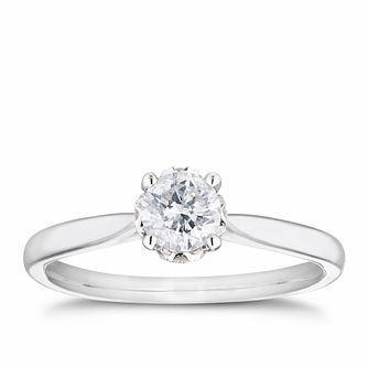 18ct White Gold 1/2ct Diamond Hidden Detail Ring - Product number 4116453