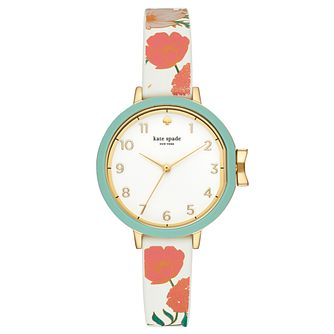 Kate Spade Park Row Ladies' Gold Tone Floral Strap Watch - Product number 4116682