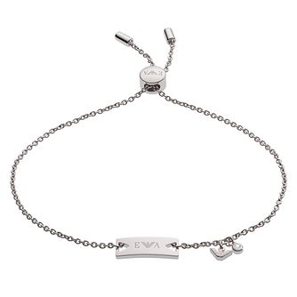 Emporio Armani Ladies' Signature Silver Bracelet - Product number 4117018