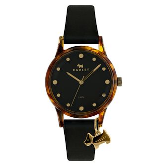 Radley 'Watch It!' Ladies' Black Silicone Strap Watch - Product number 4120833