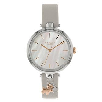 Radley St Dunstan Ladies' Grey Leather Strap Watch - Product number 4120876