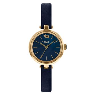 Radley St Dunstan Ladies' Navy Leather Strap Watch - Product number 4120892