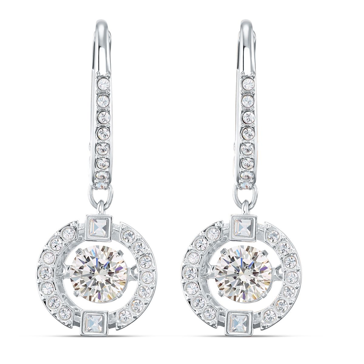 Swarovski Sparkling Dance Rhodium Plated Crystal Earrings - Product number 4122593