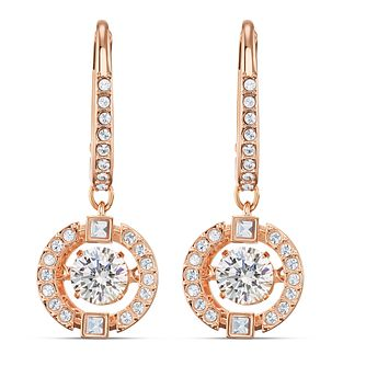 Swarovski Sparkling Dance Rose Gold Plated Crystal Earrings - Product number 4122607