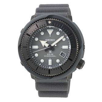 Seiko Prospex Solar Men's Black Silicone Strap Watch - Product number 4124898