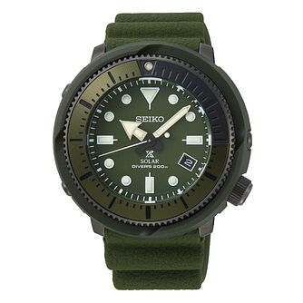 Seiko Prospex Solar Men's Green Silicone Strap Watch - Product number 4124936