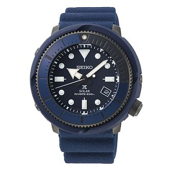 Seiko Prospex Solar Men's Blue Silicone Strap Watch - Product number 4124944