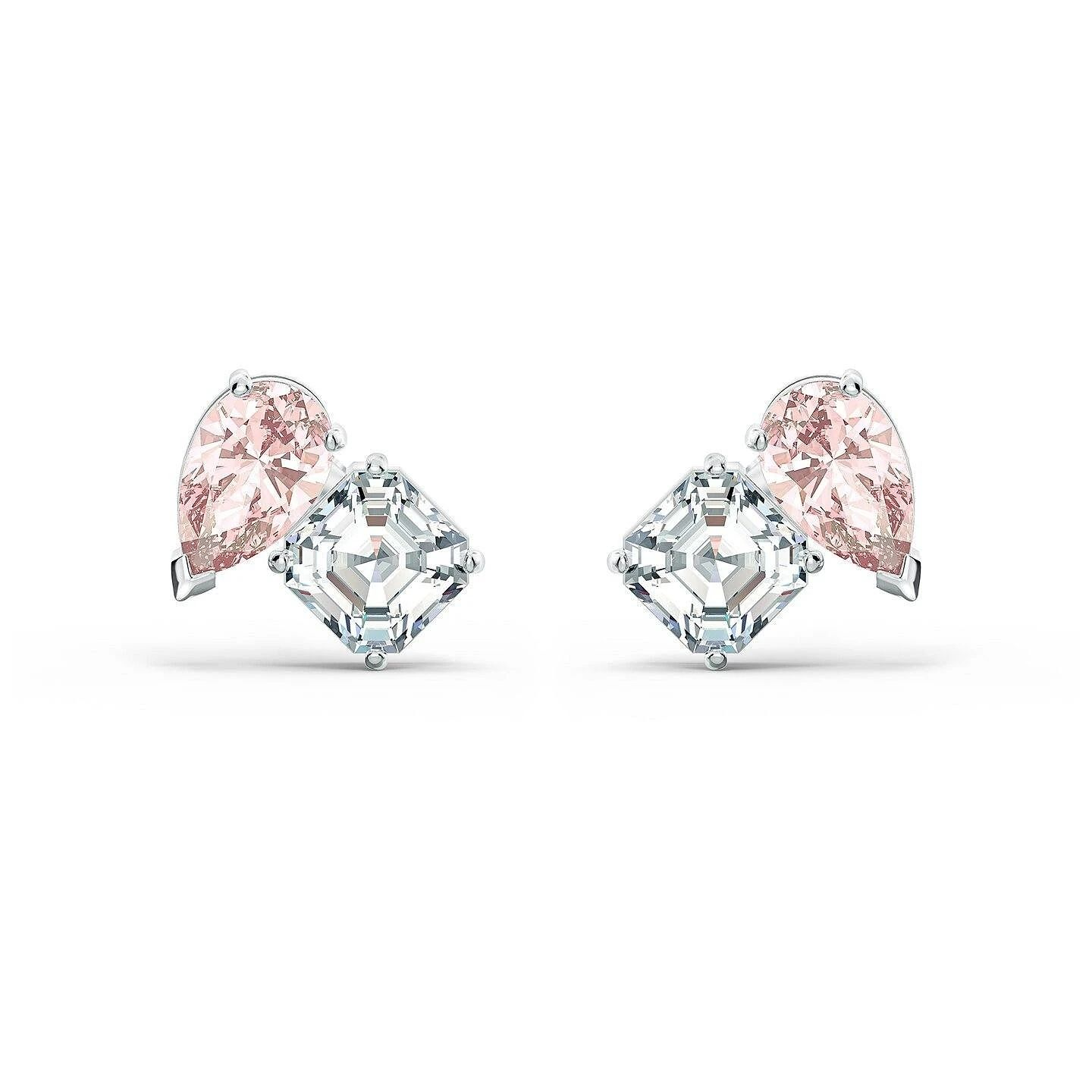 Swarovski Attract Soulmates Rhodium Plated Crystal Earrings - Product number 4127056
