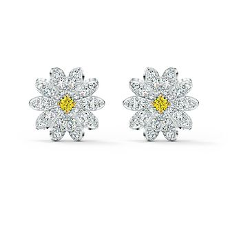 Swarovski Eternal Flower Rhodium Plated Stud Earrings - Product number 4127072