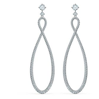 Swarovski Rhodium Plated Crystal Infinity Drop Earrings - Product number 4127196