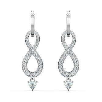 Swarovski Rhodium Plated Crystal Infinity Drop Earrings - Product number 4127528
