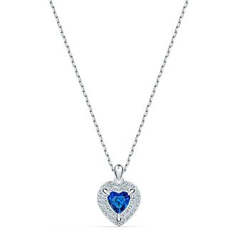 Swarovski Rhodium Plated Crystal One Heart Pendant - Product number 4128036