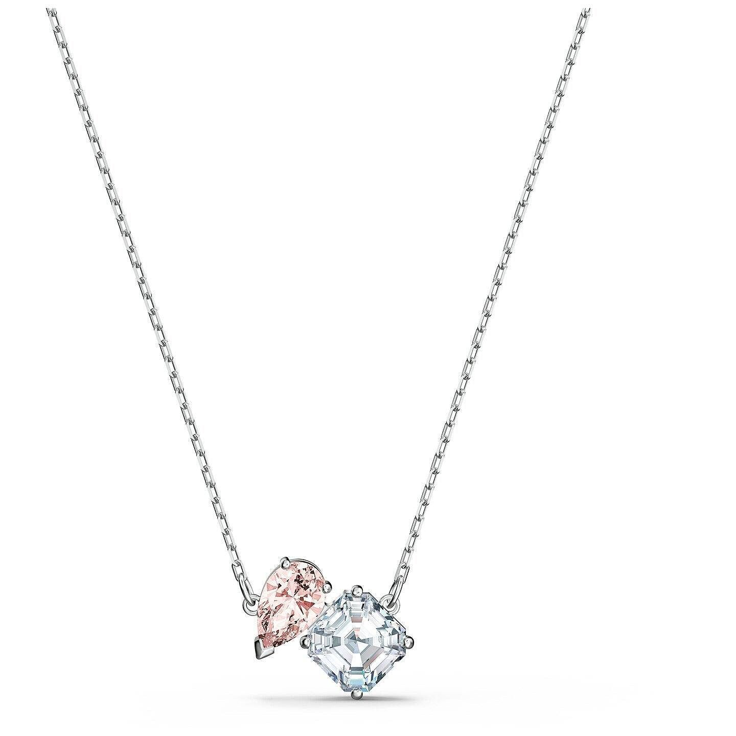 Swarovski Attract Soulmates Rhodium Plated Crystal Necklace - Product number 4128079