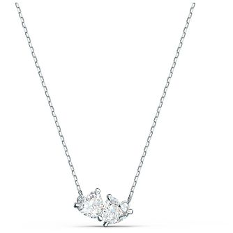 Swarovski Attract Soulmates Rhodium Plated Crystal Necklace - Product number 4128087