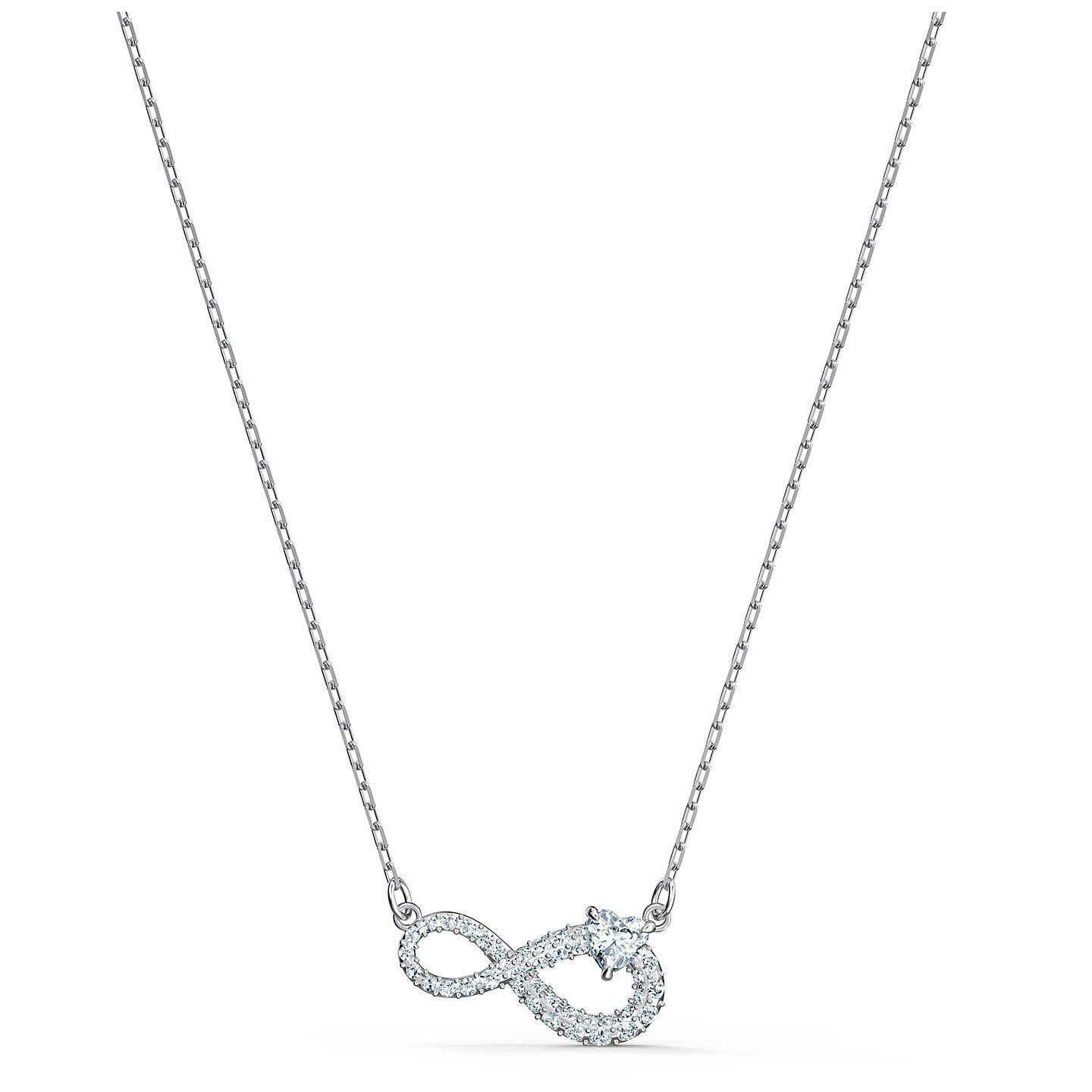 Swarovski Rhodium Plated Crystal Infinity Pendant - Product number 4128109