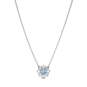 Swarovski Rhodium Plated Crystal Blue Sunshine Pendant - Product number 4128265