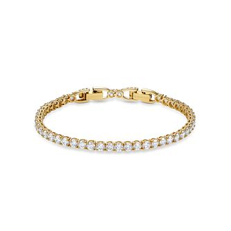 Swarovski Yellow Gold Plated Crystal Tennis Deluxe Bracelet - Product number 4128346