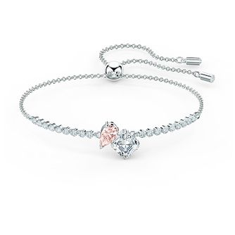 Swarovski Attract Soulmates Rhodium Plated Crystal Bracelet - Product number 4128370