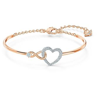 Swarovski Two Tone Crystal Infinity Heart Bracelet - Product number 4128443