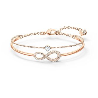 Swarovski Rose Gold Plated Crystal Infinity Bracelet - Product number 4128486