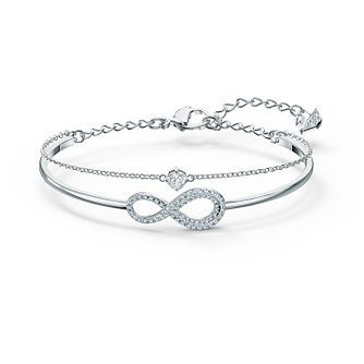 Swarovski Rhodium Plated Crystal Infinity Bracelet - Product number 4128516