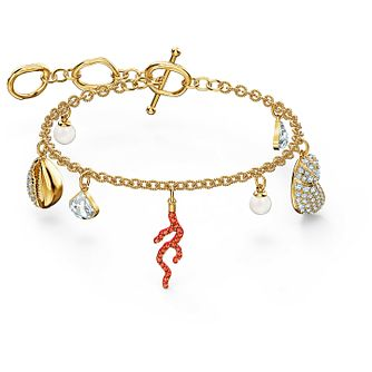 Swarovski Coral Shell Yellow Gold Plated Crystal Bracelet - Product number 4128788