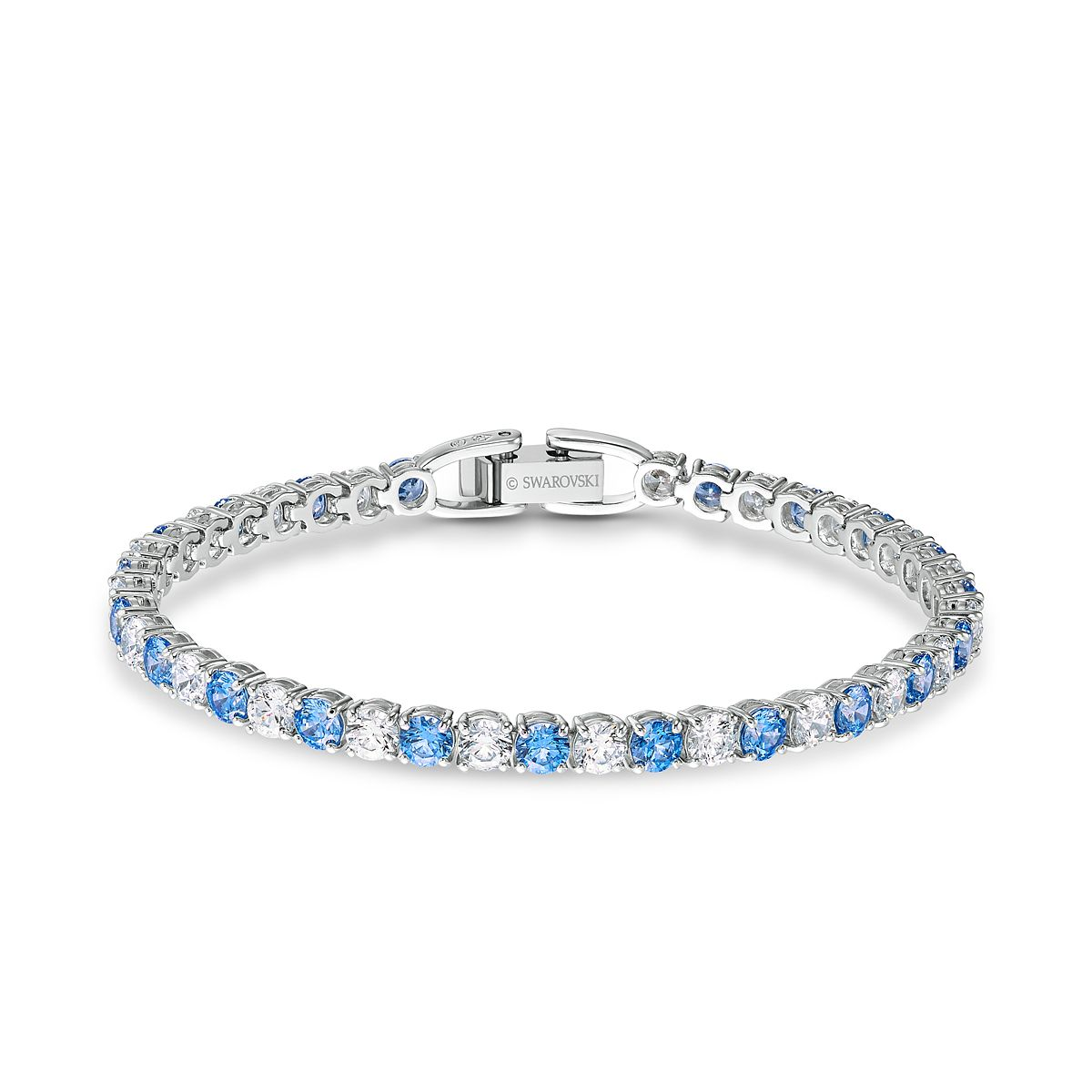 Swarovski Rhodium Plated Crystal Tennis Deluxe Bracelet - Product number 4128974