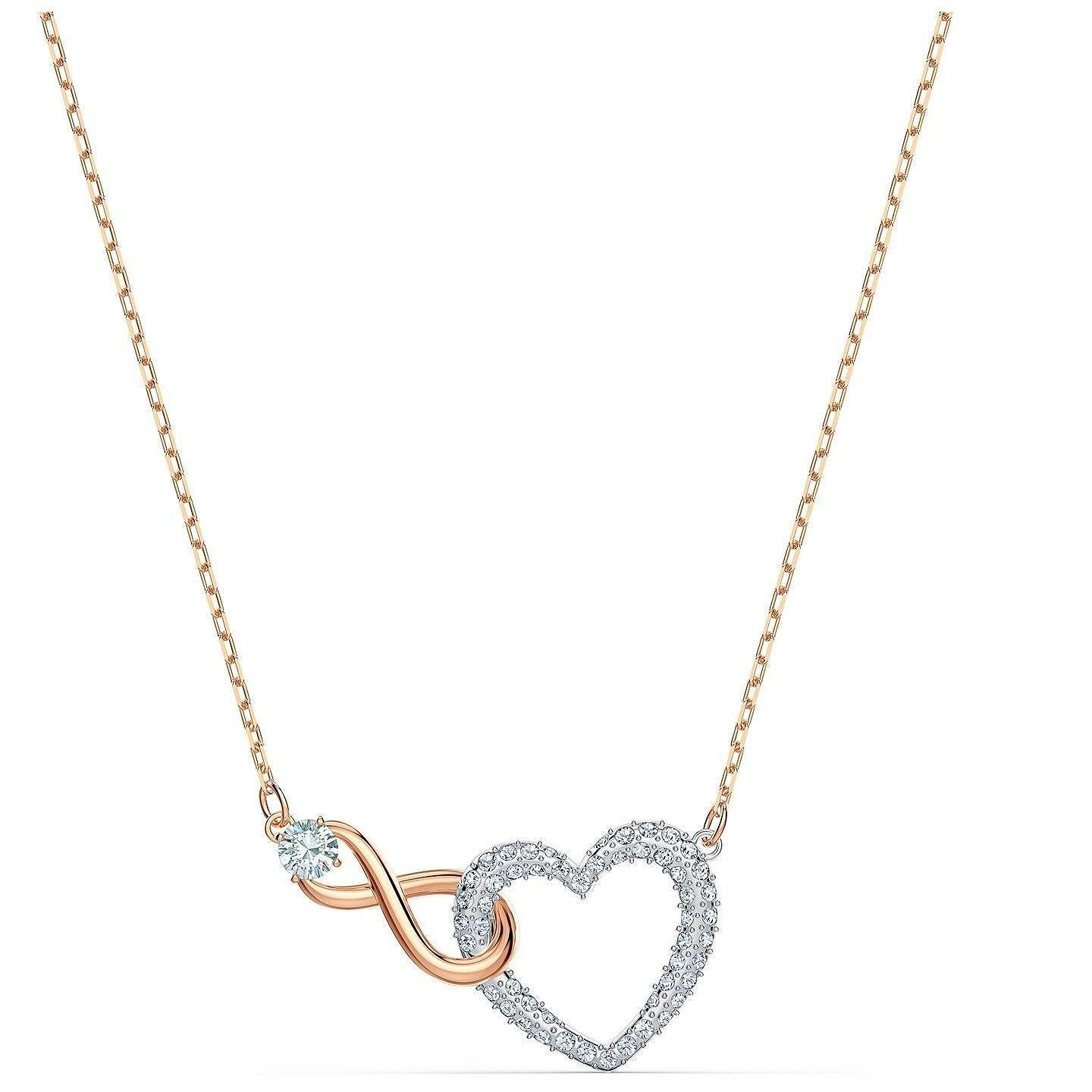 Swarovski Two Tone Crystal Infinity Heart Necklace - Product number 4128982