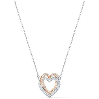 Swarovski Two Tone Crystal Infinity Heart Necklace - Product number 4128990