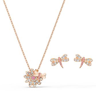 Swarovski Eternal Flower Dragonfly Rose Gold Plated Gift Set - Product number 4129008
