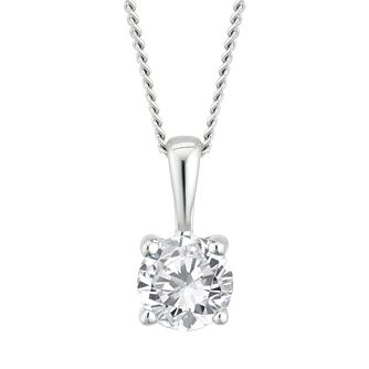9ct White Gold 0.33ct Diamond Solitaire Pendant - Product number 4131924