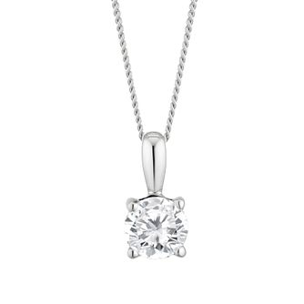 9ct White Gold 1/2ct Diamond Solitaire Pendant - Product number 4132319