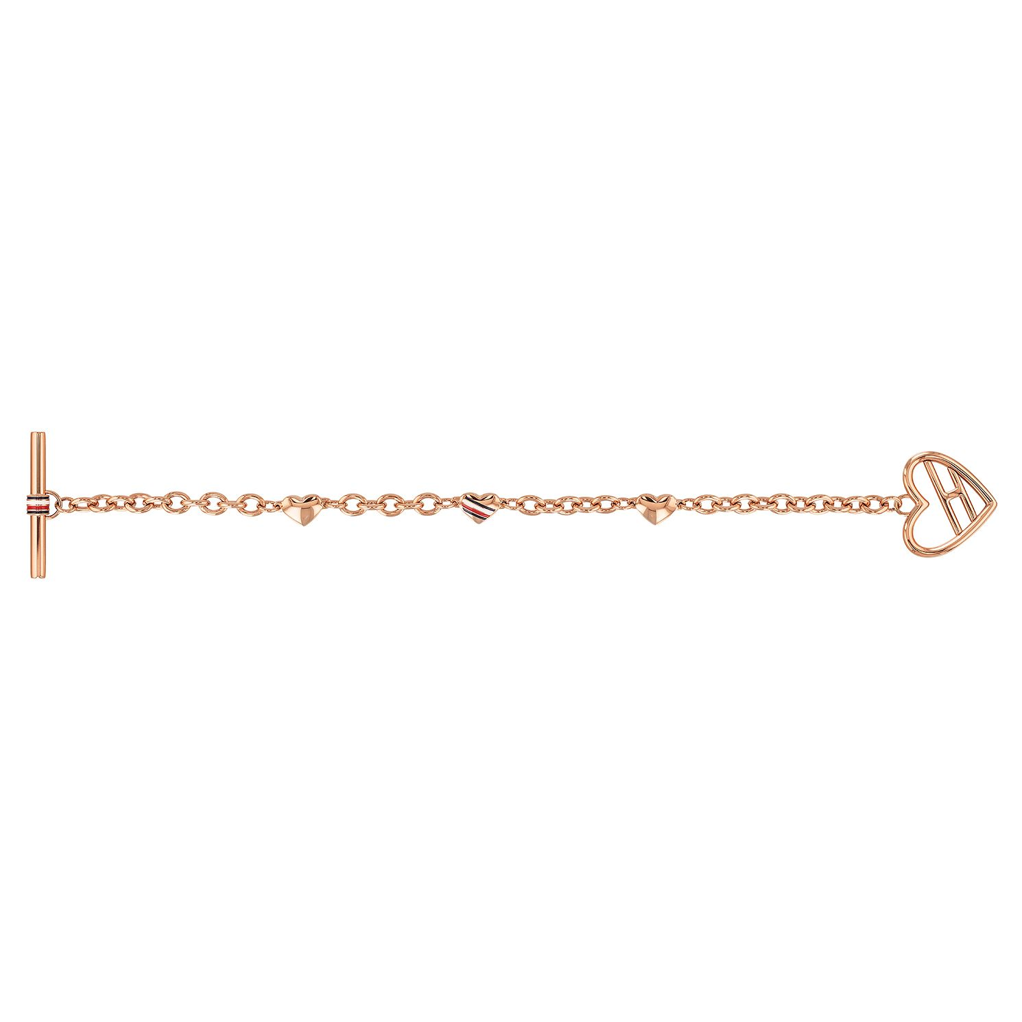 Tommy Hilfiger Ladies' Rose Gold Tone Heart Chain Bracelet - Product number 4133080