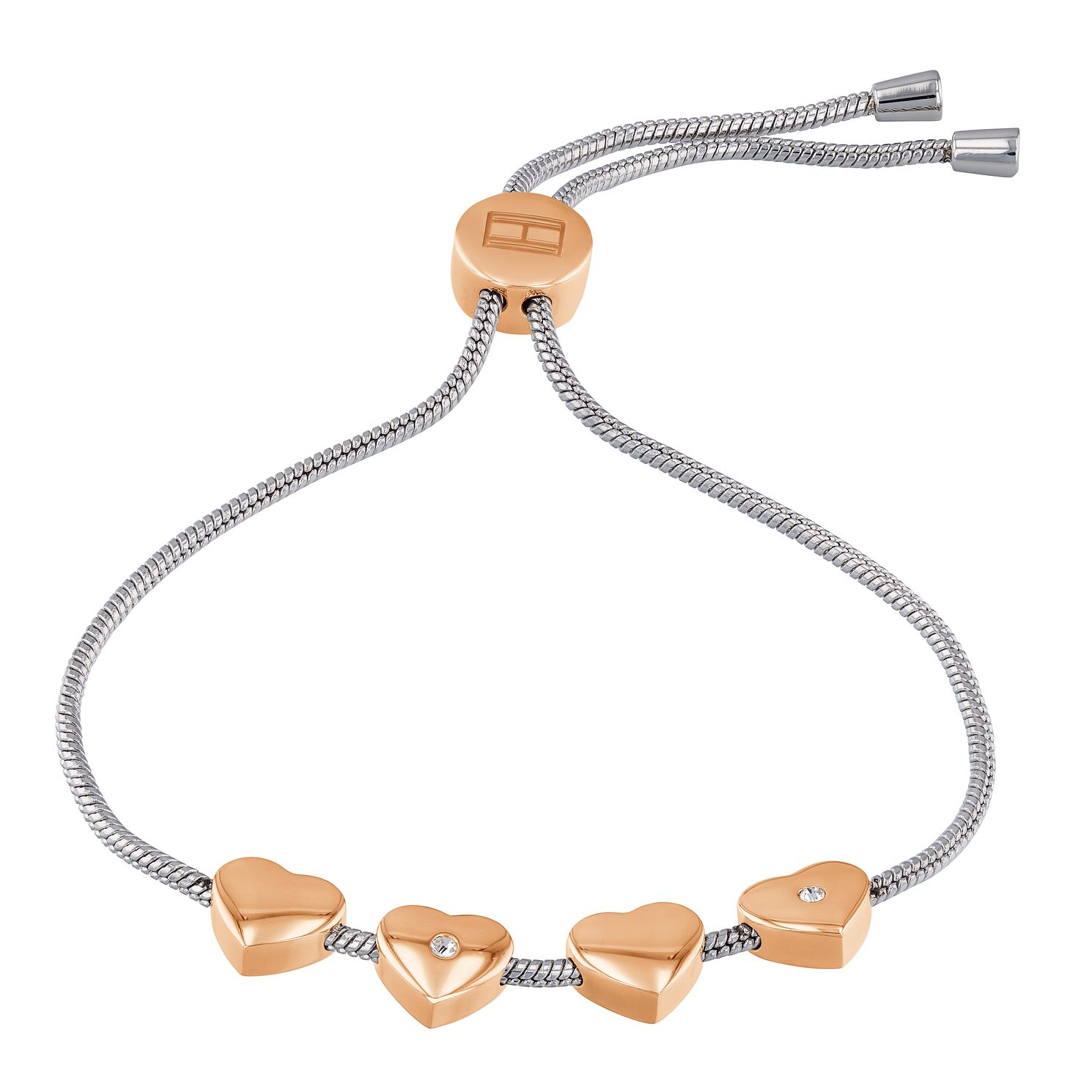 Tommy Hilfiger Ladies' Two Tone Casual Heart Bracelet - Product number 4133102