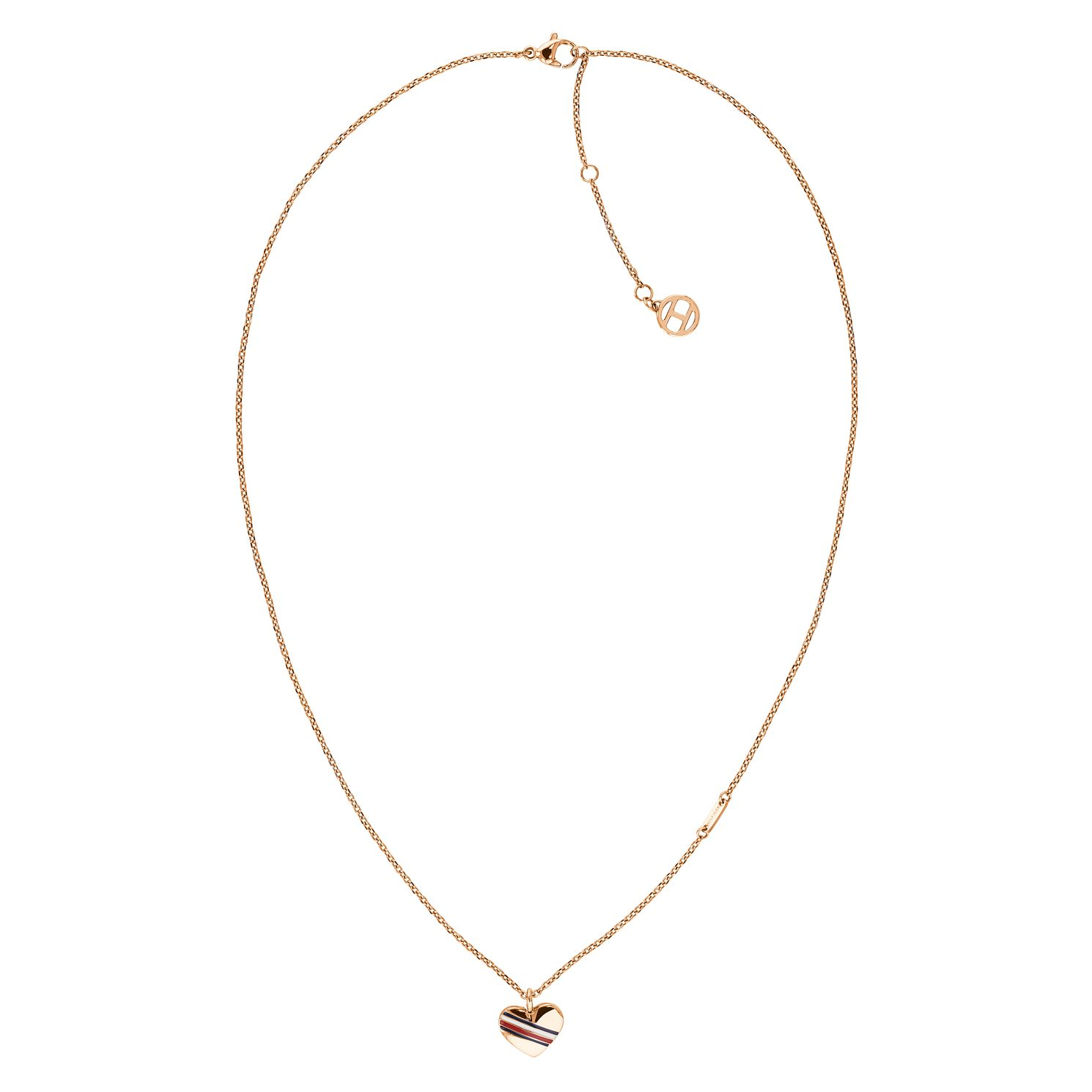 Tommy Hilfiger Ladies' Rose Gold Tone Casual Heart Necklace - Product number 4133145
