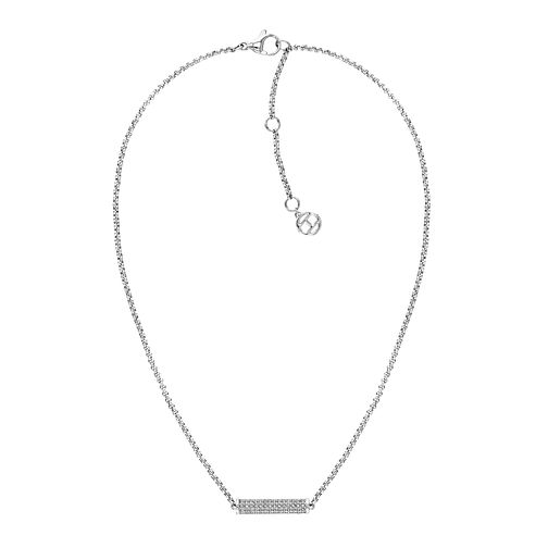 Tommy Hilfiger Silver Crystal Charm Necklace - Product number 4133196
