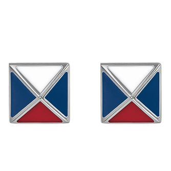Tommy Hilfiger Ladies' Stainless Steel Fine Square Earrings - Product number 4133277