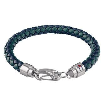 Tommy Hilfiger Men's Blue Leather Casual Bracelet - Product number 4133390