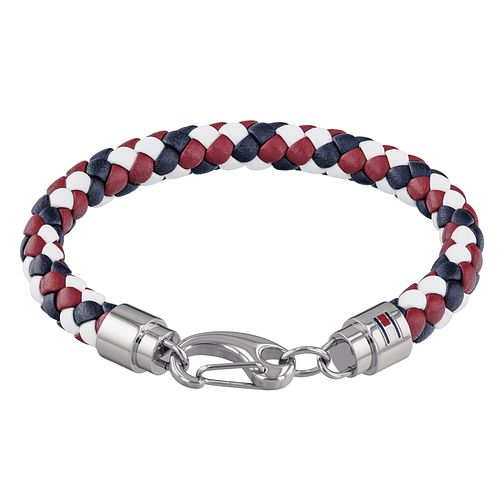 Tommy Hilfiger Men's Red Leather Casual Bracelet - Product number 4133404